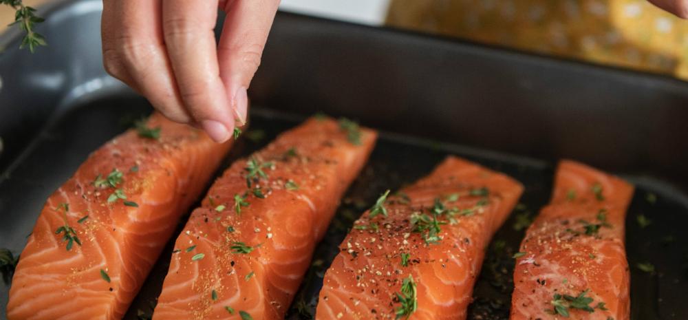 Salmon calories